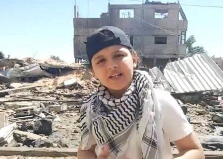 رپ روی خرابههای غزه