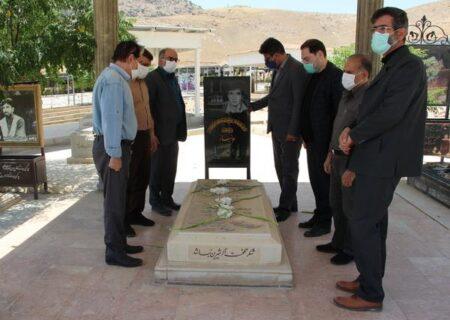 ادای احترام بر مزار استاد رضا سقایی