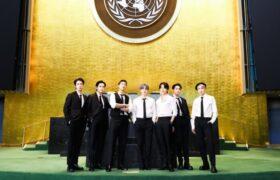 سخنرانی و اجرای گروه بیتیاس در سازمان ملل
